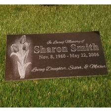 Tulips Granite Memorial Stone