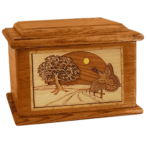 Turkey Mahogany Memory Chest Cremation Urn