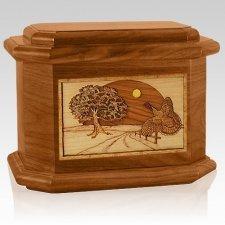 Turkey Mahogany Octagon Cremation Urn