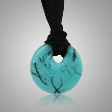 Turquoise Hair Memorial Necklace