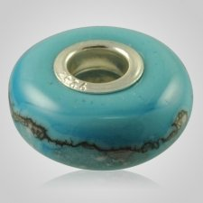 Turquoise Elegance Cremation Ash Bead