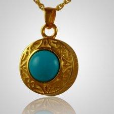 Round Turquoise Antique Keepsake Pendant II