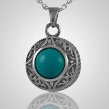 Round Turquoise Antique Keepsake Pendant III