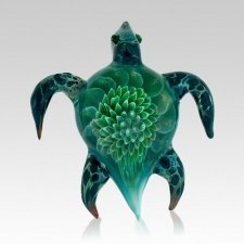 Turtle Ash Glass Weight