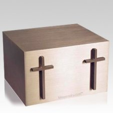 Twin Cross Cremation Companion Urn
