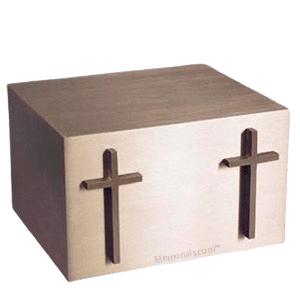 Twin Cross Cremation Companion Urn