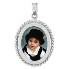 Twine Silver Photo Pendant