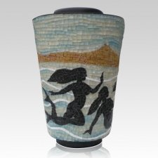 Mermaid Mosaic Cremation Urn