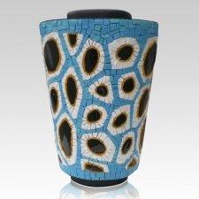 Water Mosaic Cremation Urn
