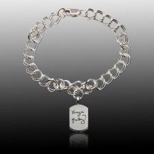 Unique Cremation Charm Bracelet