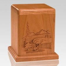 Deer Cherry Keepsake Cremation Urn