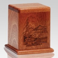 Forest Deer Keepsake Cremation Urn