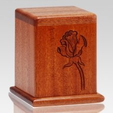 Rose Mahogany Keepsake Cremation Urn