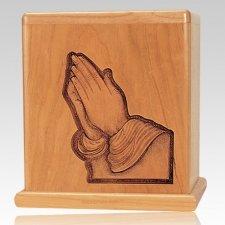 Praying Hands Cherry Cremation Urn