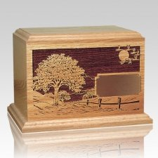 Road Home Oak Wood Cremation Urn