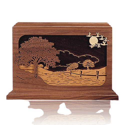 Road Home Walnut Wood Cremation Urn