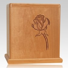 Rose Stem Cherry Cremation Urn