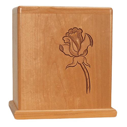 Rose Stem Cherry Cremation Urn