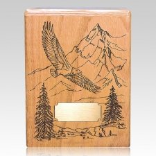 Soaring Eagle Oak Wood Cremation Urn