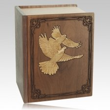 Bible Doves Walnut Companion Urn