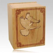 Bible Doves Oak Companion Urn