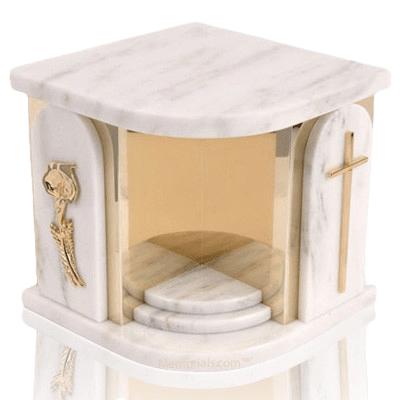 White Church Companion Urn