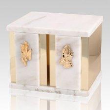 Ethinity White Danby Marble Companion Urn