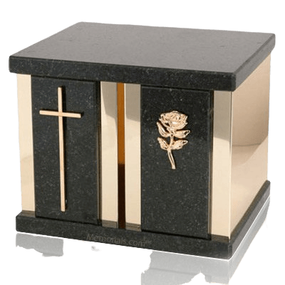 Ethinity Cambrian Black Granite Companion Urn