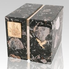 Foresta Cambrian Black Granite Companion Urn