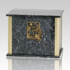 Solitude Blue Pearl Granite Companion Urn