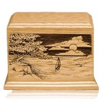 Shining Seas Wood Cremation Urn