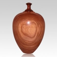 Elm Wood Cremation Urn