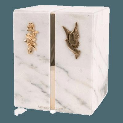 Eternitas White Danby Marble Companion Urn