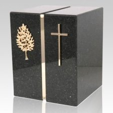 Cambrian Black Granite Companion Urn