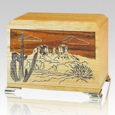 Desert Oak Wood Cremation Urns