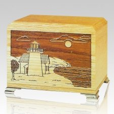Lighthouse Oak Wood Cremation Urns
