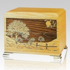 Road Home Oak Wood Cremation Urns