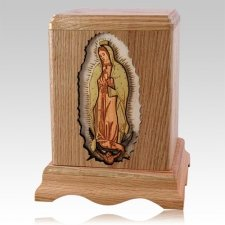 Lady of Guadalupe Oak Companion Urn