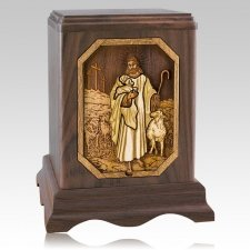 Lord is my Shepherd Walnut Companion Urn