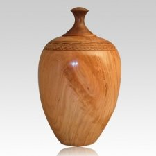 Deep Cherry Wood Cremation Urn
