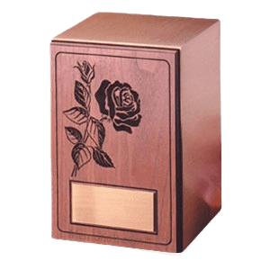 Rose Walnut Panel Wood Cremation Urn