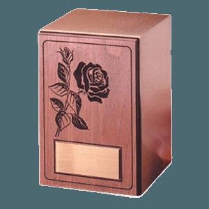 Rose Walnut Panel Wood Cremation Urn