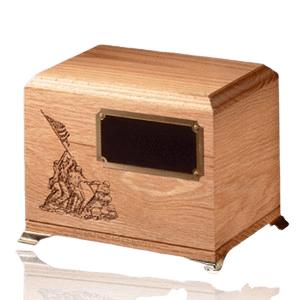 Glory Oak Wood Cremation Urn