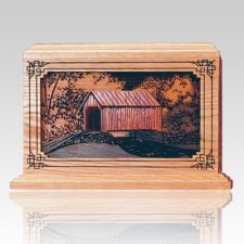 Covered Bridge Wood Cremation Urns