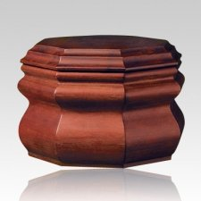 Octagon Wood Cremation Urn