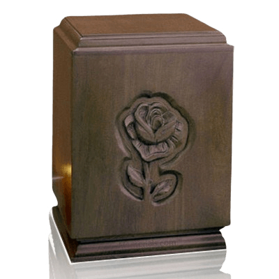 Classic Rose Wood Cremation Urn