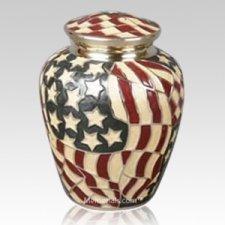 Star Spangled Cremation Urn