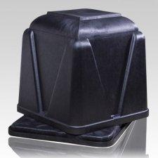 Vantage Black Cremation Urn Vault