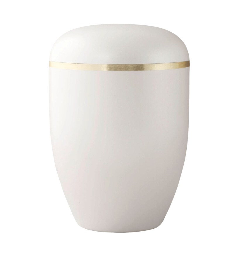 Velvety Cream Biodegradable Urn