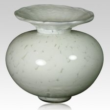 Venetia White Glass Pet Urn